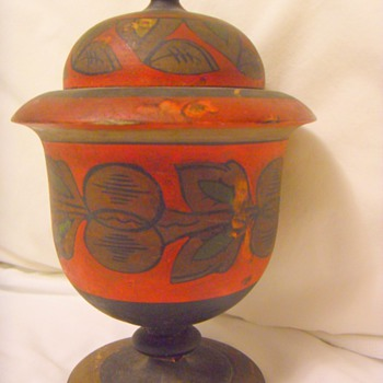 Old Wooden Urn/vessel  - Folk Art