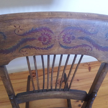 victorian (?) ladies nursing rocker