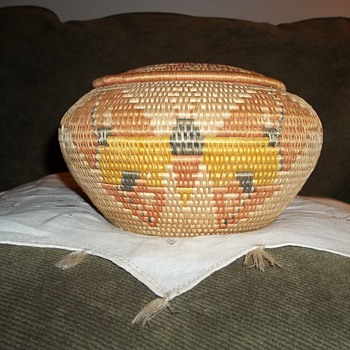 Native American California Butterfly Basket - Native American