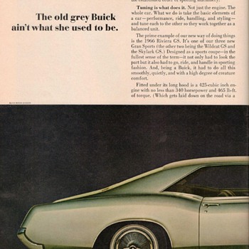1966 - Buick Riviera Advertisement