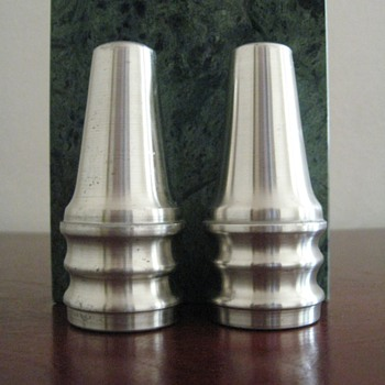 VINTAGE  MODERN SALT &amp; PEPPER SHAKERS  - NORWAY PEWTER