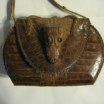 My Cuban Alligator  leather purse