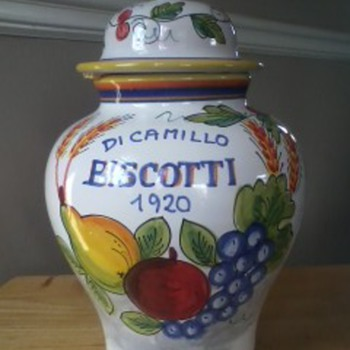 Italian Pottery Ginger Jar