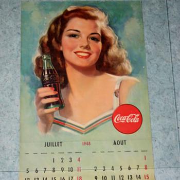 coca cola 1948 calendar