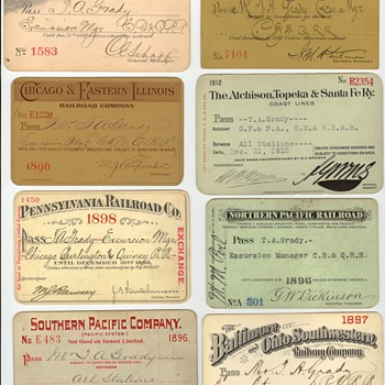 Batch of Railroad Passes - Railroadiana