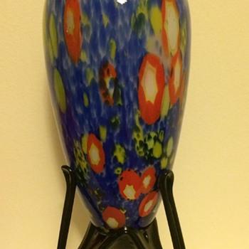 Kralik millefiori / canes pedestal / rocket foot vase