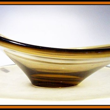 Unknown Amber Glass Bowl