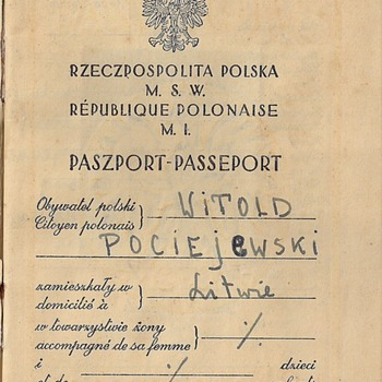 1939 Polish passport - Kovno - Paper