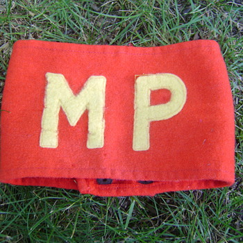 WWII USMC MP Armband - Military and Wartime