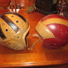 1930's Leather Football Helmets
