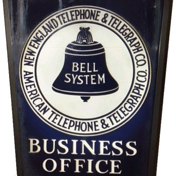 New England Telephone &amp; Telegraph Co. Rectangle Business Office Sign no Brakcet