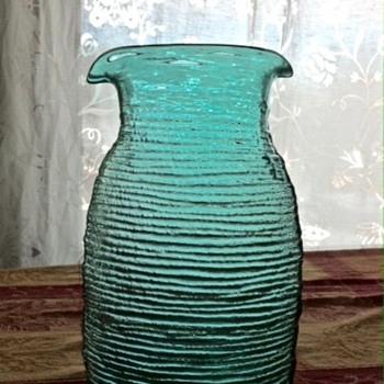 Blue/Green Blenko Carafe