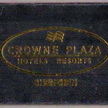 2002 - Crowne Plaza Hotel Shenzhen, China - Matchbox