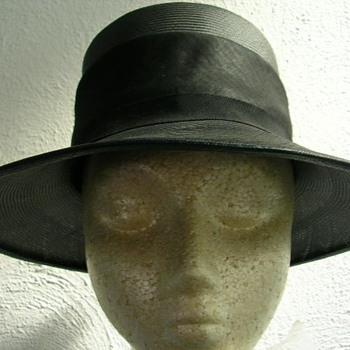 1970s Orbach's Linen Band Hat - Hats