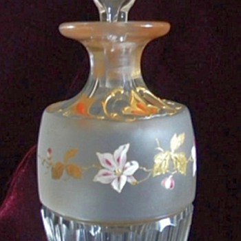 Bohemian Glass Perfume Bottle, 1880
