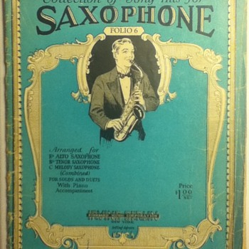 """Collection of Song Hits for Saxaphone"" Sheet Music Book - Paper"