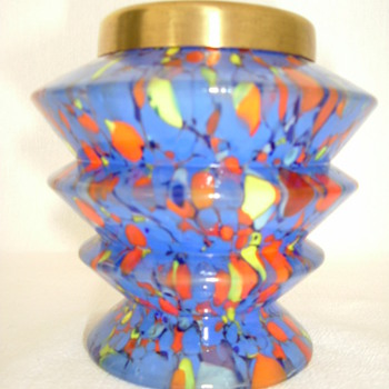 Czech Art Deco Spatter - Art Glass