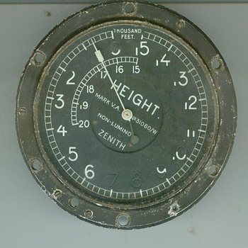 Royal Flying Corps WWI Zenith Non-luminous Altimeter - Military and Wartime