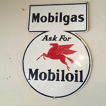 Mobilgas pump sign. 1930's