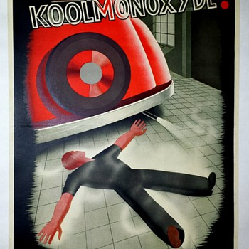 "Original Dutch ""Koolmonoxyde"" Offset Lithograph Poster - Posters and Prints"