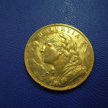 HELVETIA Gold Coin...