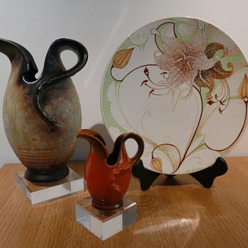 JUGENDSTIL SCHENKKANNEN 48 & 581 SCHOONHOVEN - Art Pottery