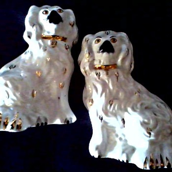 """Beswick"" Pottery England /6 "" Staffordshire King Charles Spaniel Mantel Dogs/Circa 1950's"
