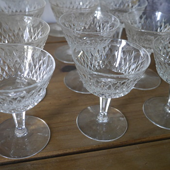 Cut Glass Small Glassware Set of 12 - Glassware