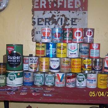 my quart oil can collection