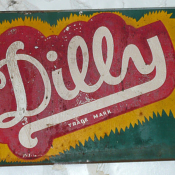 Dilly Soda Sign Thin Tin  - Signs