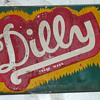 Dilly Soda Sign Thin Tin
