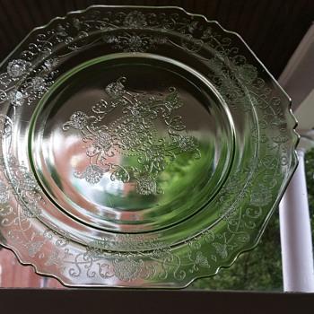Hazel Atlas Florentine Depression glass  - Glassware