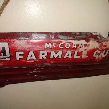 International Harvester McCormick Farmall Cub Sign