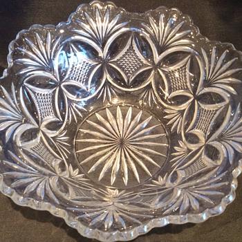 Antique/vintage glass large bowl - Glassware