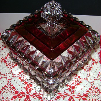 Westmoreland Crystal Wedding Dish - Glassware