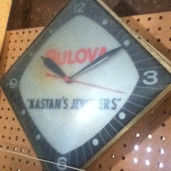 Vintage Bulova Adverstising Clock