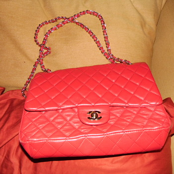 Chanel Red Quilted Handbag