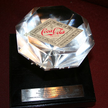 coca cola 75th Anniversary 1903-1978 diamond crystal
