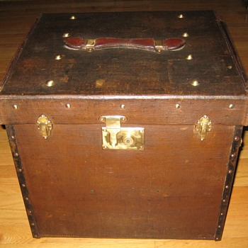 Antique German Made Lady's Hat Trunk - Furniture