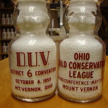 Two Mt. Vernon Ohio 1/2 Pint Baby Tops........