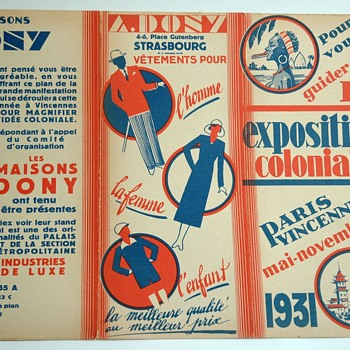 artdeco colonial exhibition paris 1931 map. - Advertising