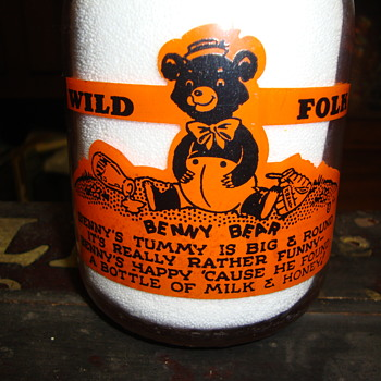 """Benny Bear"" Milk Bottle from Wild Folk Series....... - Bottles"