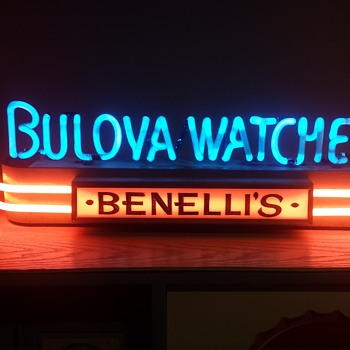 1930's Bulova counter top neon  - Signs