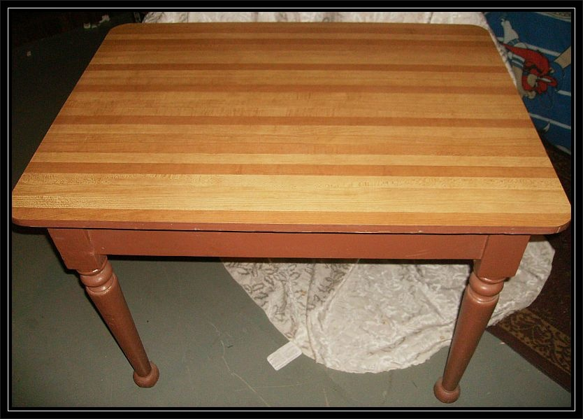 Old Wooden Table Turned Wood Legs Collectors Weekly