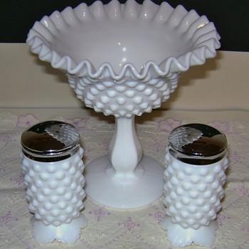Fenton Hobnail Milk Glass - Glassware