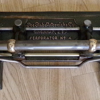 Globe Wernicke No. 4 Hole Punch