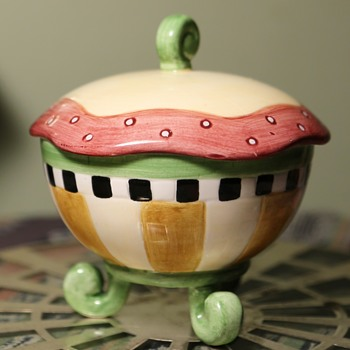 Little Covered Dish - Art Pottery