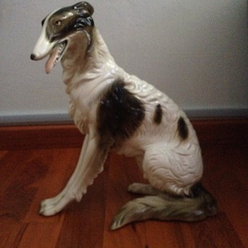 Large borzoi porcelain figure