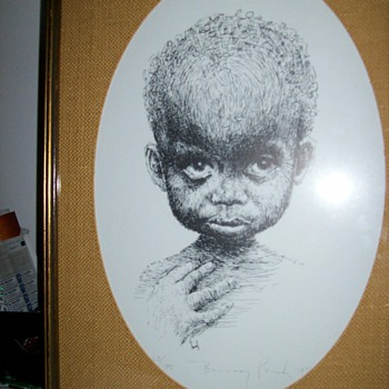 BLACK CHILD PRINT