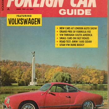 1967 - Foreign Car Guide Magazine - Paper